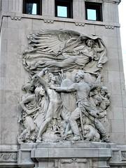 Defense, frieze on DuSable Bridge, N. Michigan Avenue, Chicago, Illinois (Paul McClure DC) Tags: chicago cookcounty illinois jan2019 architecture historic sculpture