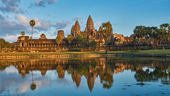 Angkor Wat Reflection (radkuch.13) Tags: sony sonyalpha a6000 asia sunset cambodia angkor angkorwat khmer history historic blue water bluesky reflection happyplanet asiafavorites