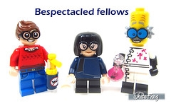 Bespectacled fellows (WhiteFang (Eurobricks)) Tags: lego minifigures cmfs collectable walt disney mickey characters licensed design personality animated animation movies blockbuster cartoon fiction story fairytale series magic magical theme park medieval stories soundtrack vault franchise review ancient god mythical town city costume space
