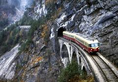FS ALn 448.2008 (TEE Breda) Penarolo di Cadore 31/05/1981. Foto Roberto Trionfini (stefano.trionfini) Tags: train treni bahn zug diesel tee breda fs aln448 veneto italia italy
