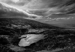 Scrubbing Underneath (Mountain Bracken) Tags: 2019 blackandwhite comeraghs landscape outdoor rocks sgillogeloughs sgilloges spring clouds grass hiking ireland lakes mountain munster nirevalley sky waterford