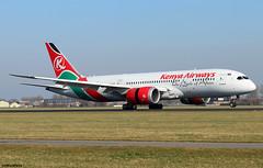 Kenya Airways Boeing 787-8 Dreamliner 5Y-KZD / AMS (RuWe71) Tags: kenyaairways kqkqa kenya nairobi boeing boeing787 b787 b788 b7878 boeing787dreamliner boeing7878dreamliner boeing7878 5ykzd cn36041204 theprideofafrica amsterdamschiphol amsterdamschipholairport schiphol schipholairport schipholamsterdam ams eham polderbaan widebody twinjet landing runway sunshine clearsky