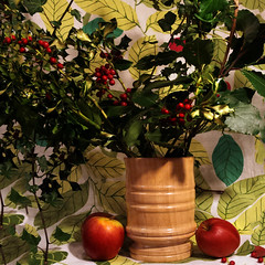 """Wassail Cup 2015 full (hoffman) Tags: wassail wassell cup bowl whitemaple wood apples holly winter cider ceremony tradition davidhoffman davidhoffmanphotolibrary socialissues reportage stockphotos""""stock photostock photography"""" stockphotographs""""documentarywwwhoffmanphotoscom copyright"""