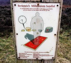 Sundial instructionns! (eucharisto deo) Tags: canock chase staffordshire aonb sundial sign signage