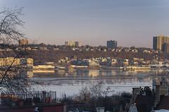 Jersey Reflections (LaguardiaBrian) Tags: hudson jersey sigma 100400 sony a7riii river morning newyork