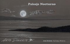 Cómo dibujar un paisaje nocturno con la Luna (artedivierte) Tags: arte dibujo artedivierte luna paisaje noche tutto3 artistleonardo leonardopereznieto patreon tutorial