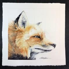 """Patience"" (Jennifer Kraska) Tags: orange painting fox watercolor art jenniferkraska"