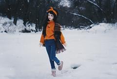 winter river I (AzureFantoccini) Tags: bjd abjd balljointeddoll zaoll luv doll dollmore winter russia nature portrait snow snowfall