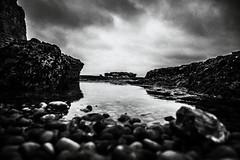 3366 (Elke Kulhawy) Tags: landscape landschaft monochrome blackandwhite bnw bw grain art kunst etretat france frankreich clouds himmel stones steine wasser water rocks meer ocean