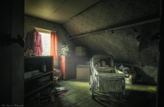 Abandoned Farmhouse (Kay-Augustin-Photographie) Tags: abandonedlostlostplaceskayaugustindecayurbexurbanexplorationverlassenfarmhousedollhousebelgiumroomindoorlightwindowsdollbabycarriage