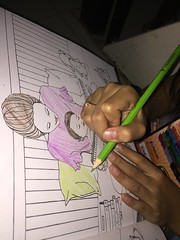 me coloring (ghostgirl_Annver) Tags: color coloring drawing painting book pencil