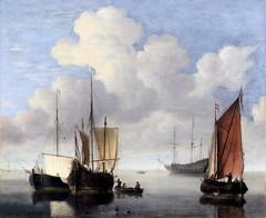 IMG_5645 Willem van de Velde I  1611-1693. Leyde Londres  Mer calme Calm Sea.  Hambourg Kunsthalle. (jean louis mazieres) Tags: peintres peintures painting musée museum museo deutschland germany allemagne hamburg kunsthalle