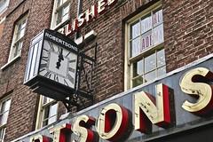Suttons & Robertsons, London, UK (Robby Virus) Tags: london england uk unitedkingdom greatbritain britain gb english british suttons robertspns pawn shop store pawnbroker sign signage clock neon