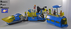 Benny's Party Monorail! (Slick_Bricks) Tags: lego monorail moc classic space benny party dj wildstyle