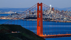 (A Sutanto) Tags: sf san francisco city ggb golden gate bridge blue hour night lights bay transamerica california usa