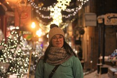 IMG_3190 (3) (huguesasnard) Tags: quebec city canada petit champlain rue street christmas winter hivers cold night castle tower snow neige chateau canoneos100d