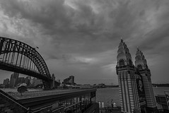 DSC00019 (Damir Govorcin Photography) Tags: luna park milsons pointsydney harbour blackwhite monochrome sky clouds wide angle sony a7rii zeiss 1635mm