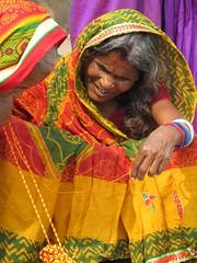 varanasi 2019 (gerben more) Tags: people portrait portret woman oldwoman sari colours colors varanasi benares india