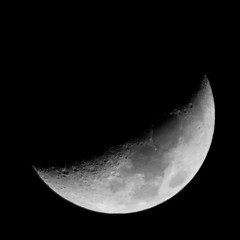 Waxing Crescent Moon (Kelson) Tags: moon crescent