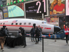 2019 Celebration of Retro TWA Hotel - Wingless Plane Times Square 4491 (Brechtbug) Tags: 2019 celebration retro twa hotel brooklyn wingless 1958 lockheed constellation connie l1649a starliner airplane visits times square before heading trans world airlines new yorks john f kennedy international airport known york anderson field commonly idlewild city march 23rd nyc 02232019