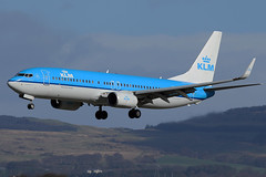 PH-BXK KLM Royal Dutch Airlines Boeing 737-8K2(WL) at Glasgow International Airport 23 March 2019 (Zone 49 Photography) Tags: aircraft airliner airlines airport aviation plane march 2019 gla egpf glasgow abbotsinch international scotland kl klm royaldutchairlines royal dutch boeing737 boeing 737 800 8k2 wl phbxk