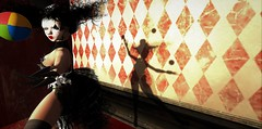 Full time job (gargantuela) Tags: juggle circus carnival gargantuela avatar secondlife sl virtual sn~ showgirl entertainer
