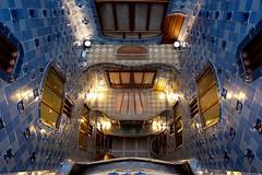 Casa Batlló (Douguerreotype) Tags: balcony blue barcelona catalunya buildings spain architecture city window tiles urban gaudi door