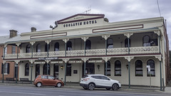 McDermott's Coolavin Hotel, Goulburn NSW, built c1850 - see below (Paul Leader - Paulie's Time Off Photography) Tags: goulburnnsw heritagelisted hotel pub coolavinhotel olympus olympusem10 paulleader streetphotography streetscape architecture oldbuilding building heritagebuilding southerntablelands nsw newsouthwales australia