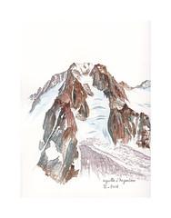 L'aiguille d'Argentière (Yvan LEMEUR) Tags: aiguilledargentière montagne massifdumontblanc glacierdargentière glacierdumilieu refugedargentière glacier glace hautesavoie alpinisme alpes france aquarelle watercolour acuarela peinture