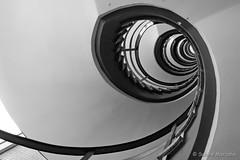 No 9 (Sockenhummel) Tags: stairway staircase stairwell escaliers architektur stair spirale spiralstaircase monochrom blackwhite schwarzweis fuji xt10 aufwärts treppe treppenhaus