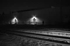 Train Station (Bo Dudas) Tags: station train night bw blackwhite blackandwhite black noir nikon shadow silhouette perspective monochrome mono absoluteblackandwhite