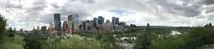 Panoramic view of downtown Calgary from Rotary Park (procrast8) Tags: calgary ab alberta canada rotary park bow suncor energy centre river street bridge prince island tower east west transcanada brookfield place jamieson fifth avenue devon centennial