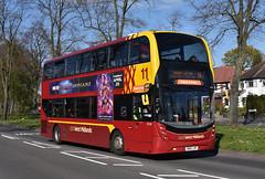 National Express West Midlands 6144 SN15LHP 10/4/19 (Lincolnshire Bus Stop) Tags: nationalexpress westmidlands alexanderdennis enviro alexander dennis 400mmc 6144 sn15lhp rachelsusan 11coutercircle birmingham