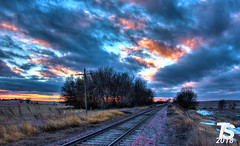 4/4 Winter Sunset over Northern Hardin County, IA near Ackley, IA 12-23-18 (KansasScanner) Tags: iowafalls ackley iowa bradford train railroad csx cn up iarr sunset