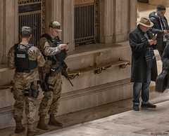 When in Rome... (Robert Lejeune) Tags: streetphotography armed military grandcentralstation