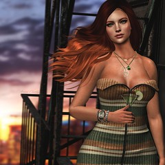 Parachute (Arwen Clarity) Tags: sllooksgoodtoday secondlife sl slblog pose people 2ndlife second life mesh maitreya blogs blog blogger bloggers blogging green balcony redhead ginger windy chicchica apple martini city sky minimal backdrop exile valor