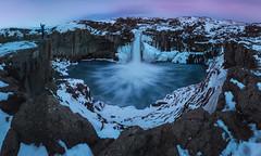 Lo conseguí (el_farero) Tags: aldeyjarfoss iceland waterfall islandia landscape canon panoramic farero minimalism paisaje cascada sunset