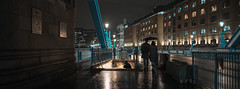 22,141 (Panda1339) Tags: 6524 28mm london ldn towerbridge streetphotography umbrella raining uk cinematic