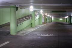 Beneath Golden Gate Park (Ian E. Abbott) Tags: parkinggarage undergroundgarage garage concrete goldengatepark sanfrancisco nikon em filmcamera 50mmf18 50mm seriese kodak film portra400 vintagecamera