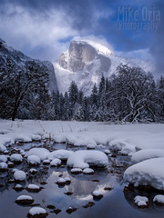 Half Dome in Winter (mikeSF_) Tags: california yosemite ynp nationalparkpark merced river halfdome snow winter trees cooks meadow reflection pentax 645z dfa55 55mm mikeoria wwwmikeoriacom