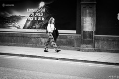 Anarchy (Cycling-Road-Hog) Tags: blackwhite candid canoneos750d citylife colour efs1855mmf3556isstm edinburgh fashion headphones mobile monochrome music people phone places scotland street streetphotography streetportrait style urban woman