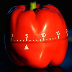 veggietime (m_big_b) Tags: redpepper macro vegetable red timer penf olympus timepiece macromondays