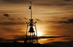Setting sun behind the clock (Croix-roussien) Tags: france luberon bonnieux settingsun soleilcouchant clocher clock church eglise religious religieux provence ngc