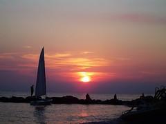 Sunset in Italy (BernardusM) Tags: boat sunset eveningsun italy