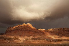 Sunset over rocks (summersunset6) Tags: stormy sky desert landscape scenery clouds sunset rocks page arizona