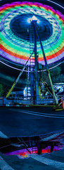 eagle 16 bent vertical (pbo31) Tags: eastbay alamedacounty bayarea california nikon d810 color night dark black april 2019 boury pbo31 oakland butler amuesments fair carnival ride lightstream spinning motion traveling panorama large stitched panoramic