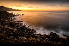 Gold Before the Sun Rises (JohnLazo19) Tags: 1635mm canon5dmarkiv coast longexposure morning pch pacificcoasthighway rocks sunrise water