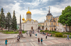 The Trinity Lavra of St. Sergius (Sergiev Posad, Russia) (KonstEv) Tags: church cathedral orthodox russia posad court yard dome cross monument religion building architecture monastery