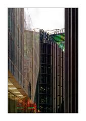 The red platform (Jean-Louis DUMAS) Tags: bâtiment building londres london artistique frame abstrait abstraction abstract artistic art architecte architectural architecture architect lignes géométrique design tower tour gratteciel ciel panneau londoncity