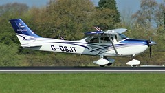 G-DSJT (AnDyMHoLdEn) Tags: cessna egcc airport manchester manchesterairport 05r